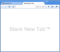 a blank New Tab page