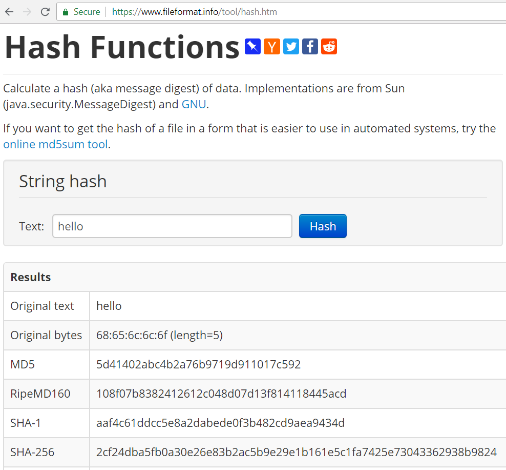 Hash Functions · Practical Cryptography for Developers